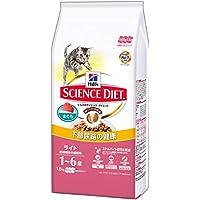 ヒルズのサイエンス・ダイエット キャットフード ライト 肥満傾向の成猫用 体重ケア まぐろ 1.8kg(600g×3袋)