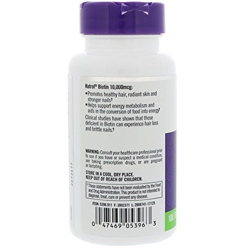 NATROL Natrol Biotin Ma×imum Strength 10,000mcg Tablets 100ea 12items