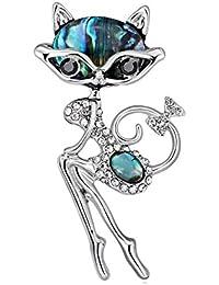 Ruikey  新しい ファッション  ブローチ 動物デザイン  キラキラ 可愛い おしゃれ 美しい きれい アクセサリー ジュエリー レトロ 女性用 プレゼント 贈り物
