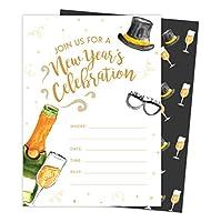 New Years Eve #4 ホリデーシーズン パーティーギャザリング 招待状 招待状 25枚 封筒&シールステッカー付き ビニールパーティー