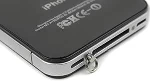 改良版 超便利 iPhone4専用ストラップ取り付けリングネジ 星型+プラス型専用ドライバー付き