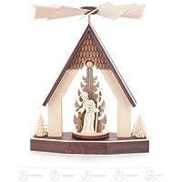 x の深さのピラミッドのピラミッドの家の誕生場面幅 X の高さは 10 の cmx13 cmx10 cm の鉱石山ピラミッドのクリスマスのピラミッドを台に置きます