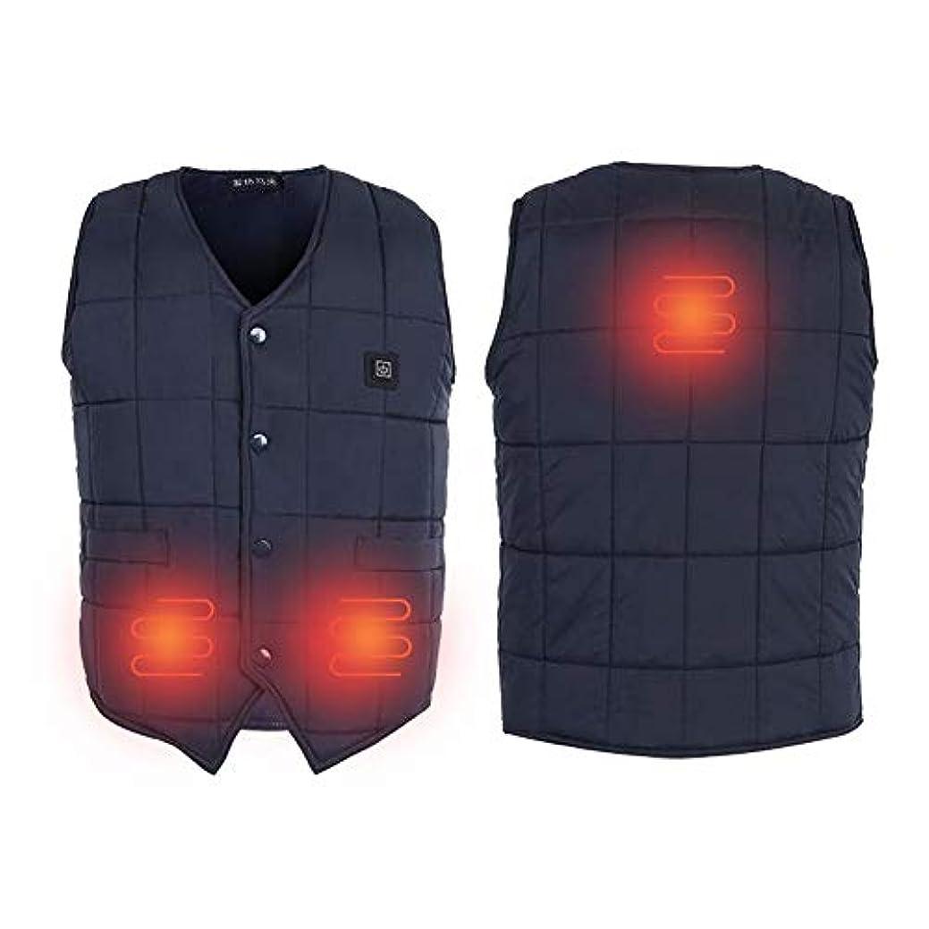 バンググリーンランド空中TMISHION ヒーティングベスト 電気ボディウォーマーベスト USB充電 洗濯可能 サイズ調節可能 5サイズ ノースリーブベストジャケット ヒートジャケット付き 暖かいジャケット