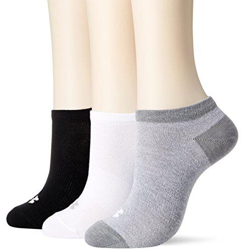 [해외](언더) UNDER ARMOUR 노 쇼 양말 3 피스 (양말 | 3 켤레 세트 | WOMEN) [1312563]/(Under Armor) UNDER ARMOUR No-show Socks 3 pieces (Socks | 3 pairs set | WOMEN) [1312563]