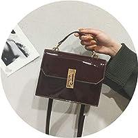 特売!小さなバッグ 女性シンプルな多目的シングルショルダーレザー小さな正方形のバッグ,ワインレッド,20*15*7cm