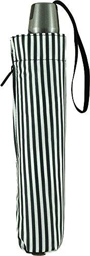 Knirps 折りたたみ傘 ワンタッチ自動開閉式 コンパクト 【正規輸入品】 MediumDuomatic StripeBlack&White KNTL200-2690