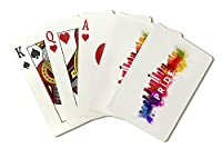 Seattle, Washington - Gay Pride - Skyline Abstract (Playing Card Deck - 52 Card Poker Size with Jokers)