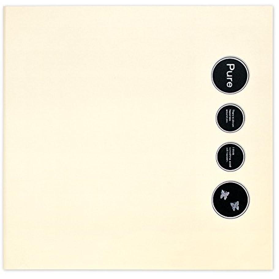 勤勉な盆サスペンドIzumidaishi 写真台紙 Pure ジャケットサイズ 3面見開きタイプ 選べる中枠付き(中枠?????????【6切(1穴)×0枚】【2L (2穴)×3枚】,表紙ベージュ)