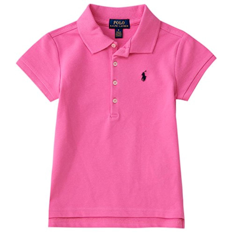 ポロ ラルフローレン ポロシャツ キッズ 女の子 ガールズ 半袖 白 無地 (サイズ:5、カラー:Baja pink) Polo Ralph Lauren [並行輸入品]