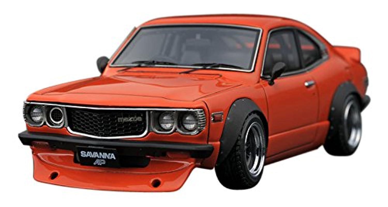 イグニッションモデル 1/43 マツダ サバンナ S124A セミ ワークス オレンジ 完成品