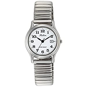 [シチズン キューアンドキュー]CITIZEN Q&Q 腕時計 Falcon ファルコン アナログ ブレスレット 日付 表示 ホワイト D015-204 レディース