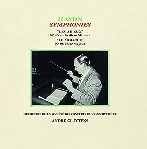 交響曲第45番『告別』、第96番『奇蹟』 クリュイタンス&パリ音楽院管