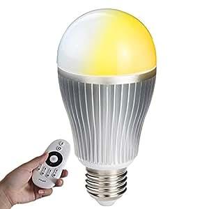 LED電球 E26 調光調色可能 リモコン操作 60w相当 (GT-B-9W-CT)LED 一般電球 e26口金 led照明 DL-L60AV 昼白色 電球色 (LED電球9W 調光&調色) 無線式リモコン操作 (リモコン別売り)