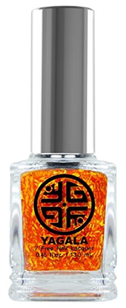長くする改善香りYaGaLa ネイルラッカー029Fire Sorcery グリッタークリア