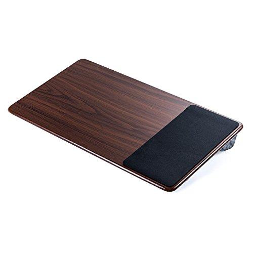 イーサプライ 膝上テーブル ノートパソコン タブレット 15.6インチ ラップトップテーブル 木目調 ワイド マウスパッド付き EZ2-HUS007