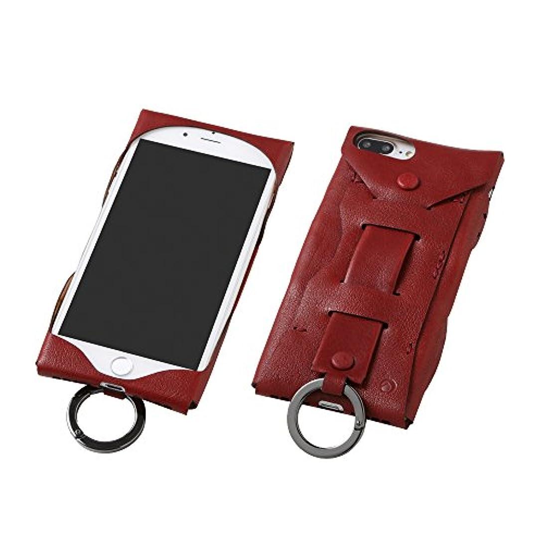ほとんどの場合とげのある典型的なDeff ディーフ iPhone 8 plus/iPhone 7 plus 対応 Baseball Gloves Leather Case for iPhone 7 Plus ワインレッド DCS-IP7PJGRD