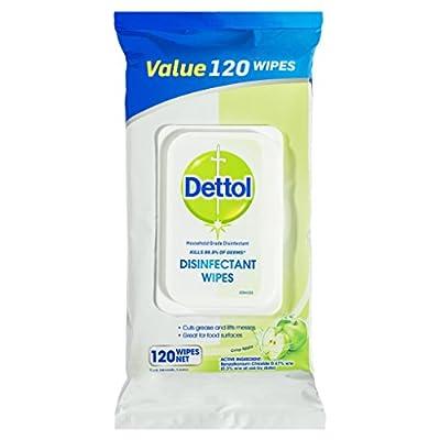 Dettol Multi-Purpose Cleanser Wipes, Crisp Apple, Count of 120