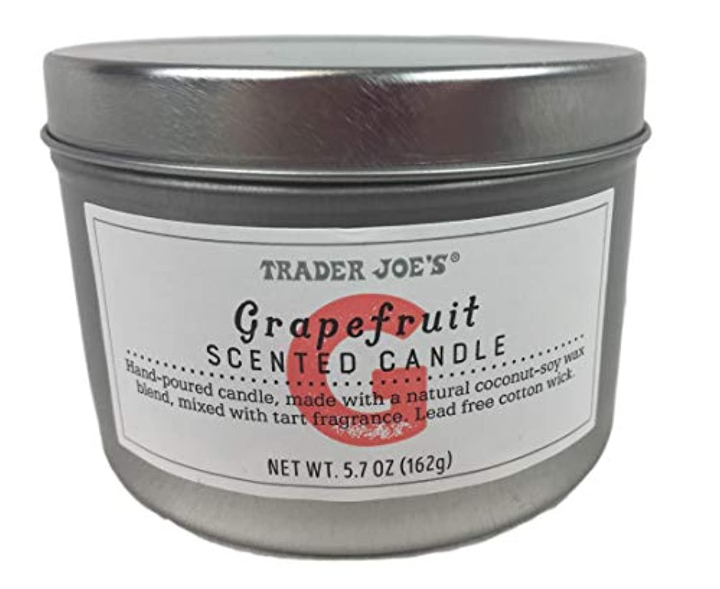 Trader Joe's Grapefruit Scented Candle NET WT 170ml (162g)