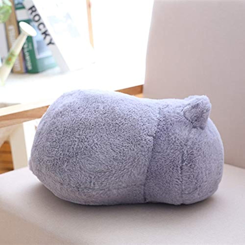 JEWH かわいいぬいぐるみ 猫のおもちゃ - ステッフなかわいいシャドウ - 猫の人形 キッズギフト - 人形 可愛い動物おもちゃ ホームデコレーション ソフト枕 (グレー)