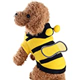 Dolloress Pet Sweatshirt Bee Costume Hoodie Pullover Hooded Shirts for Small Medium Dogs