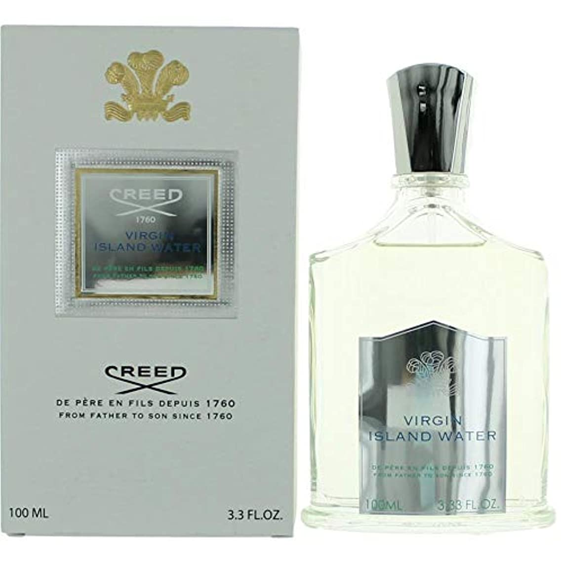 水大使急勾配のVirgin Island Water by Creed Millesime Spray (Unisex) 3.4 oz / 100 ml (Men)