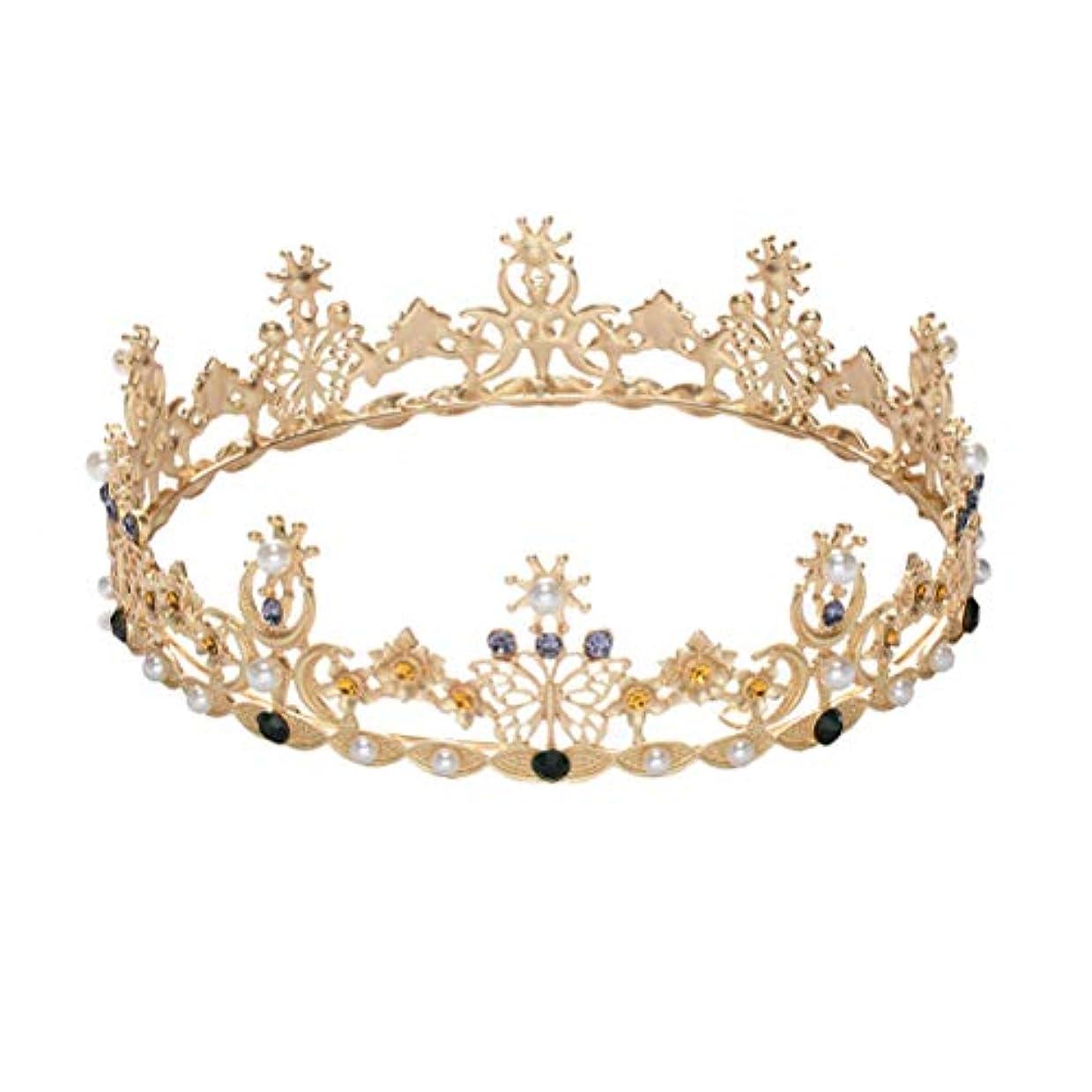 無知断片ライラックLURROSE Baroque vintage crown rhinestone queen king tiaras for wedding bridal