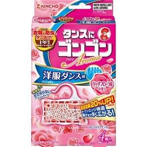 (まとめ買い)ゴンゴン アロマ 洋服ダンス用 リッチフローラルの香り 4個入×5セット