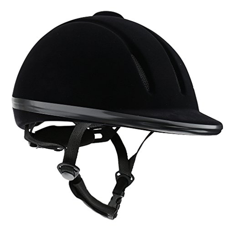 GRALARA通気 乗馬用 ヘルメット 安全性 ロー プロフィール 乗馬 帽子 2色多サイズ選べる - ブラック, XL