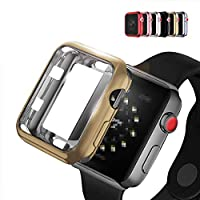 Apple Watch Series 4 ケース/カバー メッキ 40mm TPU メタル調 鏡面加工 アップルウォッチ4 ソフトカバー (ブラック)