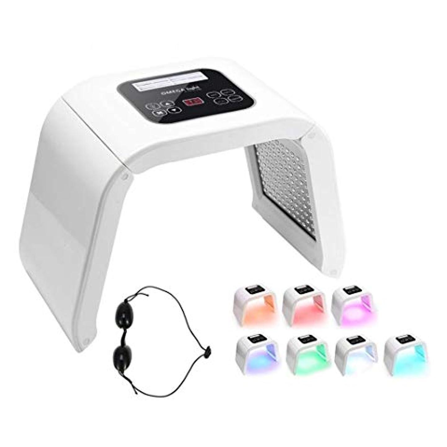 チャペルばかげた裸7色スキンケア肌の若返りマシン - PDT 7 LEDライト光線力学フォトンセラピー若返り顔の美容機器