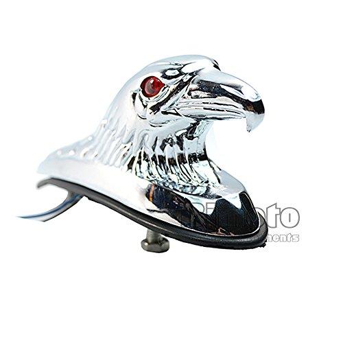 Motobikeクローム鷲頭飾り像用オートバイバイクatvフロントフェンダーフレーム&継手車のボンネット