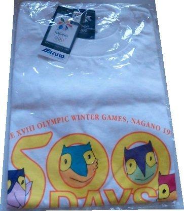 1998 長野オリンピック スノーレッツ nagano 長野五輪 冬季オリンピック 500日前 記念tシャツ ミズノ製