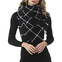 Stanpetix Plaid Square Scarf for Women Oversized Blanket Scarf Warm Wrap Shawl