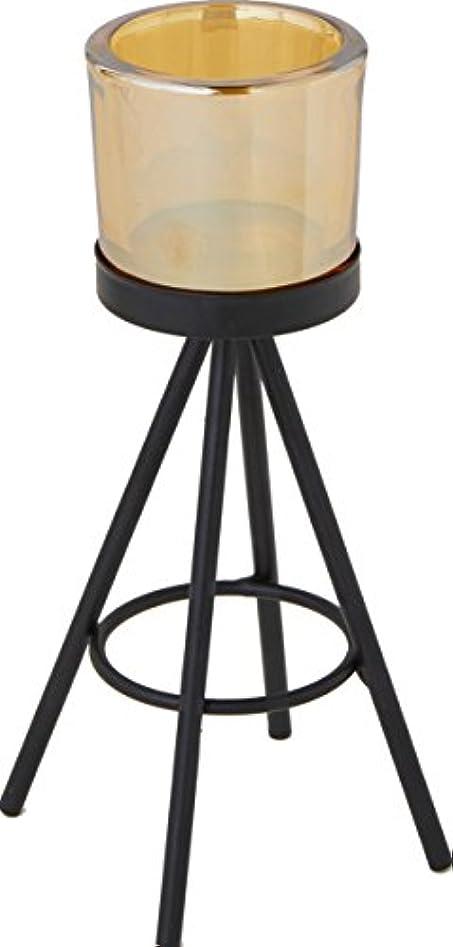 売るアルコーブエクステントカメヤマキャンドルハウス トライパッドM キャンドルフォルダー ブラックゴールド