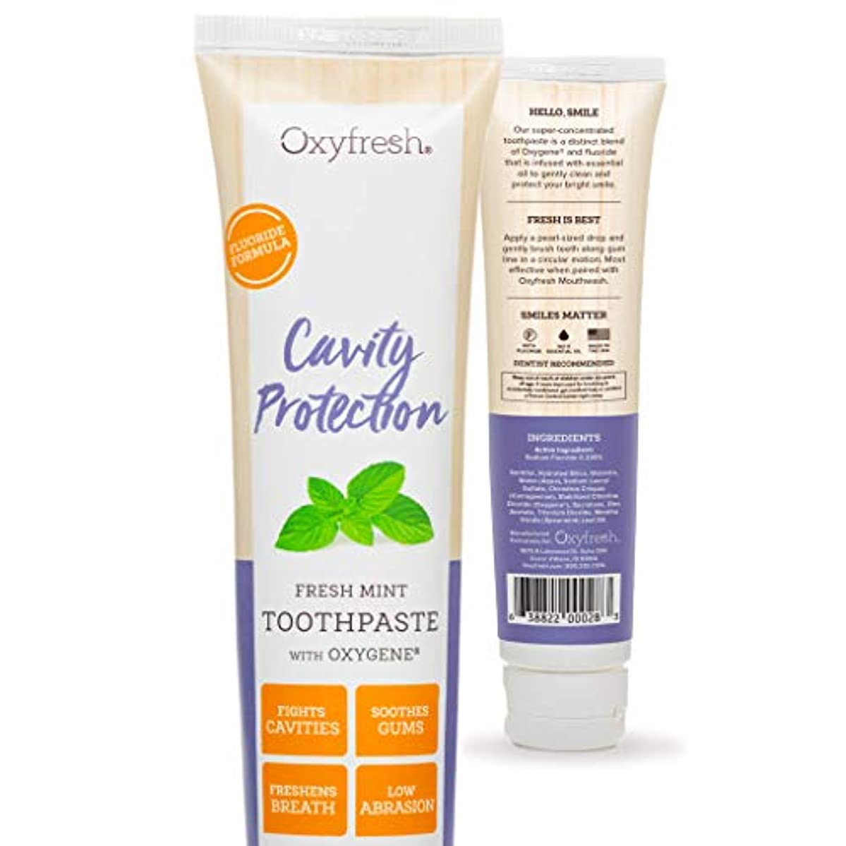 Oxyfresh Fluoride Toothpaste: For Long-Lasting Fresh Breath & Healthy Gums. Dentist recommended. No Artificial...