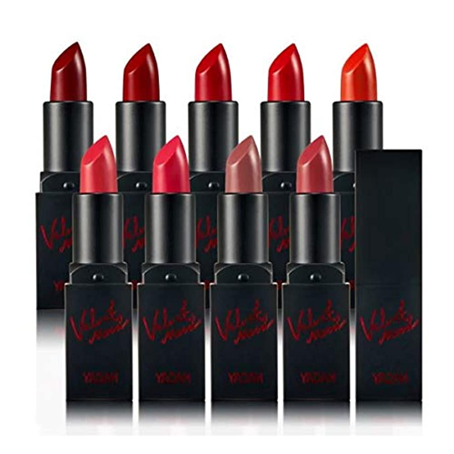 喉頭ホールドオール楕円形YADAH Velvet Mood Lipstick #03 Chic Crimson 3.3g ベルベットムードマットリップスティック - 3.3g[並行輸入品]