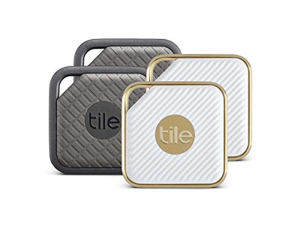 君主どうやら液化するTile 4個セット?Tile Sport 2個 and Tile Style 2個 Item Trackers タイルスポーツとタイルスタイル アイテムトラッカー GPS iOSとAndroid 用ブルートゥース対応 耐水性 [並行輸入品]