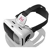 K&J 3D VR ゴーグル 軽量 豪華型 良い臨場感 3Dメガネ VRヘッドセット 新たな...