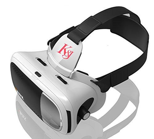 K&J 3D VR ゴーグル 軽量 豪華型 良い臨場感...