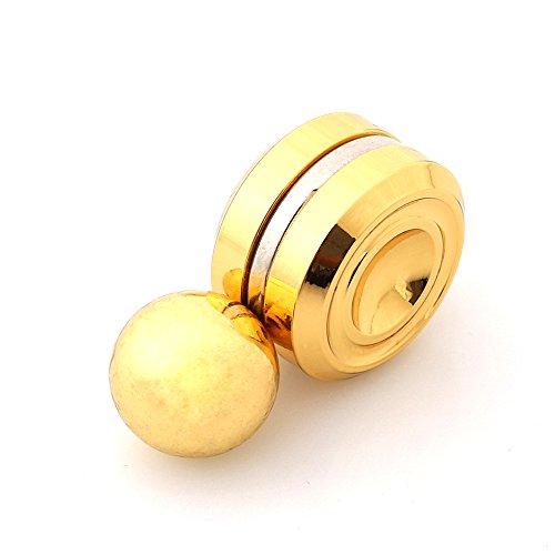 磁石おもちゃ高品質 Orbiter Fidget 指スピナー 人気の指遊び ストレス解消 脳トレ子供大人に適用 (ゴールド)