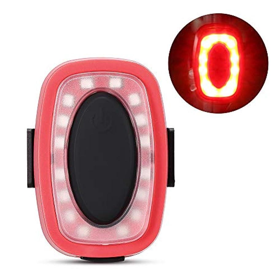 刺す服を片付けるパトワIrfora バイクテールライトサイクリングウォーニングライトバイクリアライト充電式テールライトバイクLEDセーフティレッド
