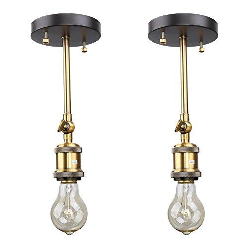 Fuloon 2個同梱 ブラケットライト・レトロ・照明器具 真鍮 1灯 アンティーク調 レトロ おしゃれ かっこいい スポットライト 壁掛け照明器具 ダイニング 食卓 リビング 居間 和室 和風 led対応 北欧