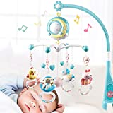 Leorealko Musical Bed Bell Baby Toy with Controller Music Night Light Toy Home Bedroom
