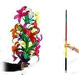 [ ZQION ] 舞台道具 舞台マジック 四つ色のある虹色の棒が大きい花束に変わる