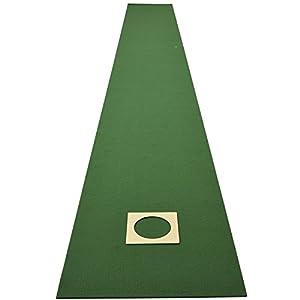 山善(YAMAZEN) パッティングマット ゴルフ ゴルフ練習用パターマツト 45cm×4m【日本製】ホールカップ付 裏面滑り止め仕様 WGPM4540(GR)