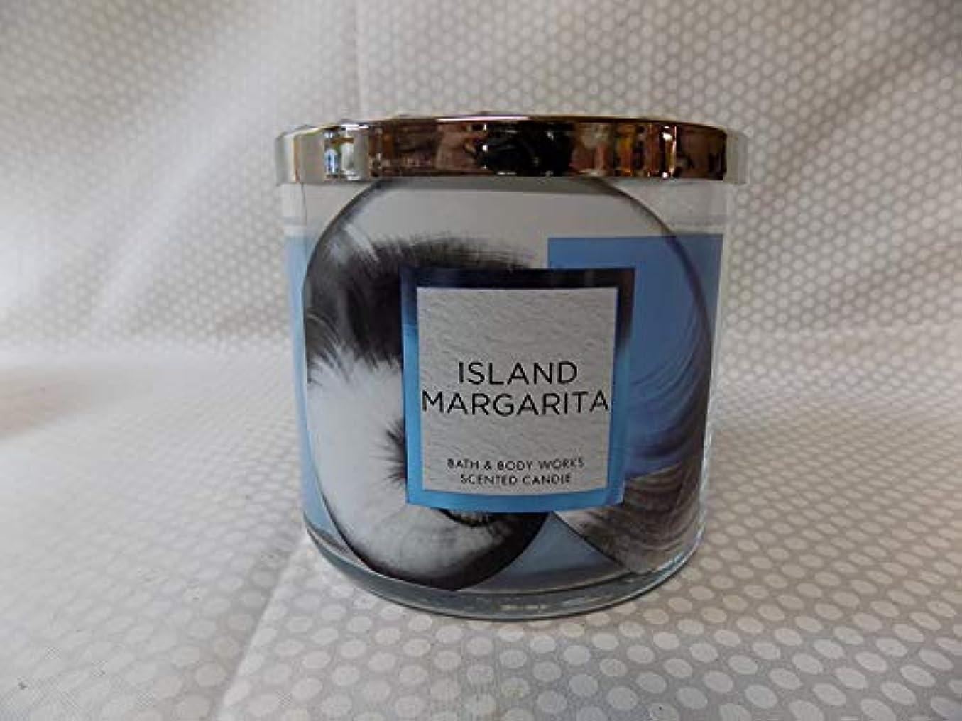 強打予言するマラドロイトBath and Body Works Island Margarita香りつき3 Wick Candle