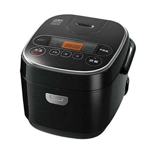 【Amazon.co.jp限定】 アイリスオーヤマ 炊飯器 マイコン式 5.5合 極厚銅釜 銘柄炊き分け機能付き ブラック RC-MA50AZ-B