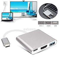 FidgetGear ホット! USB 3.1 Type-C - 4k HD HDMI USB 3.0 HUB USB-C充電ポートアダプタケーブル