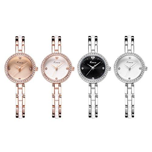 TidooゴールドPltaedシンプルブレスレット腕時計の女性ギフトアイデア ローズゴールド
