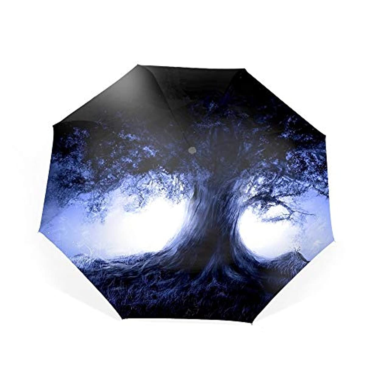 彼女自身明らかにする狭い折りたたみ傘 日傘 UVカット 晴雨兼用 軽量 古い木 防風傘 紫外線対策 スカイスター傘 ポータブル レディース